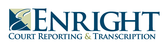 Enright Court Reporting and Transcription Logo