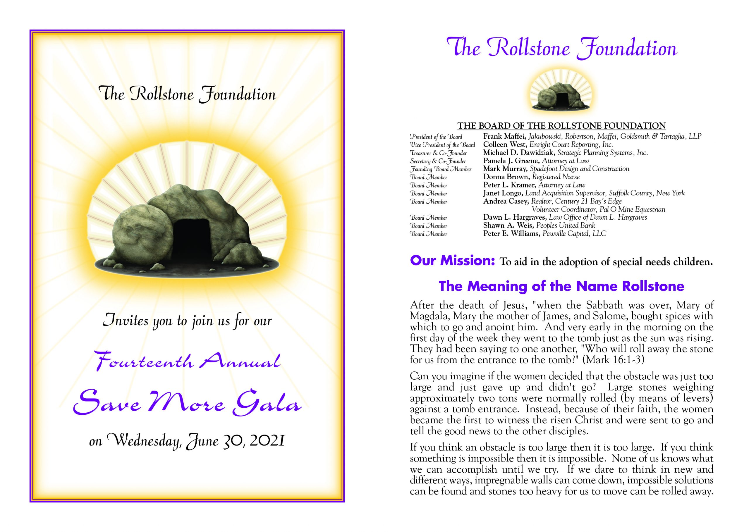 Fourteenth Annual Save More Gala
